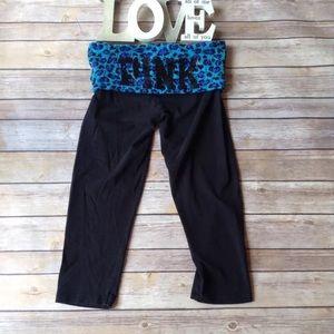 PINK Victoria's Secret black yoga Capri pants